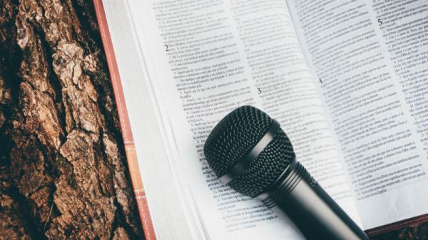Some bark, a bible and a microphone